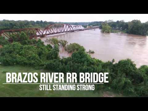 Brazos River Railroad Bridge    - Still Standing