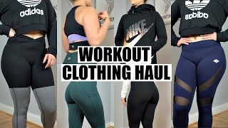 workout clothes haul try on   nike pumpchasers ledbetter champion review