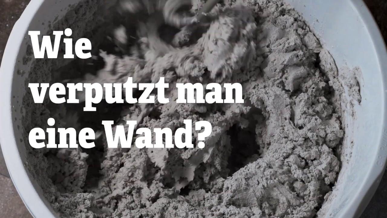 Schritt-für-Schritt-Plan: Verputzen - Wie verputzt man eine Wand ...