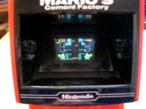 Classic Nintendo Mario Cement Factory Table Top Vintage