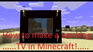 Minecraft - How to make a WORKING TV in 1.8.1!