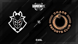 G2 Esports vs. Chaos - Clubhouse - Rainbow Six Pro League - Season X - EU