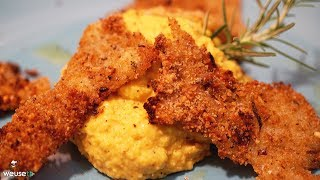 473 - Baccalà croccante con Hummus di ceci..un secondo da dieci! (secondo di pesce facile e veloce)