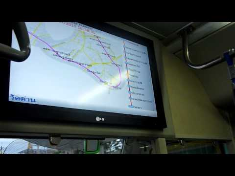 BRT Bus Rapid Transit , Bangkok   Maps,Video and voice anncouncements