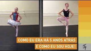 900c18d224 Antes e Depois após 5 anos de aulas de Ballet na Petite