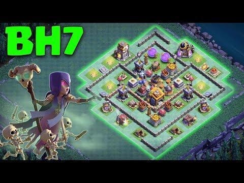 Best Builder Hall 7 (BH 7) Base 2018 (BH7) Design Anti Witch Anti 2 Star Coc | Clash Of Clans