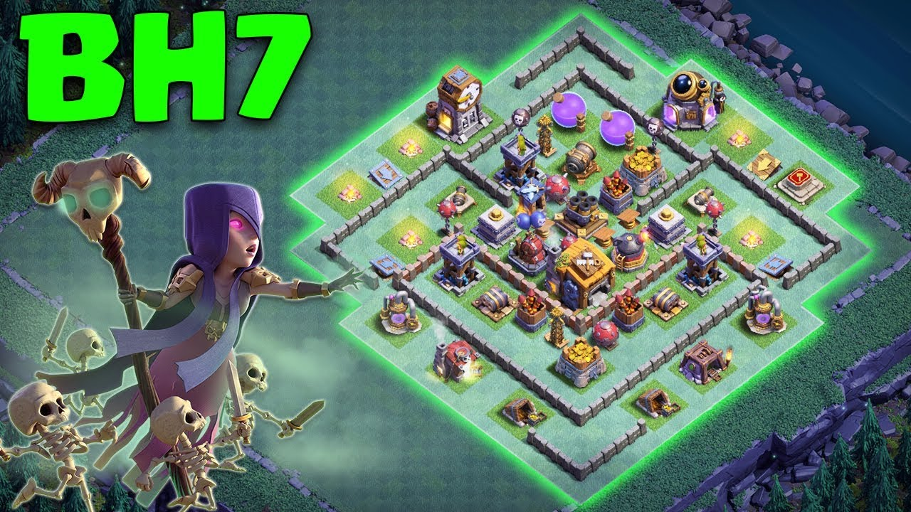 Best Builder Hall 7 Bh 7 Base 2018 Bh7 Design Anti Witch Anti 2 Star Coc Clash Of Clans Youtube