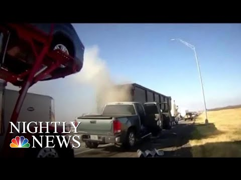Walton And Johnson - Texas Officer Pulls Man From Burning Truck (video)
