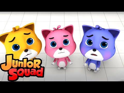 три маленьких котенка | потешки | мультфильмы | Junior Squad Russia | детская музыка