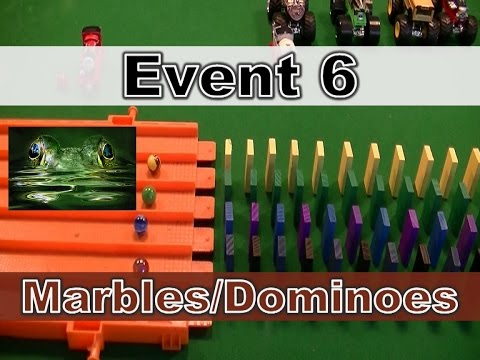 Color Teams Event 6 of 8 Marbles and Dominoes - Marble Madness Domino Falling Race