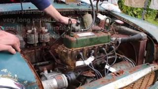 Starting An Engine After 20 years - Classic Mini 850 Engine Start