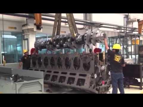 Caterpillar G3616 Crankshaft Instalation - YouTube