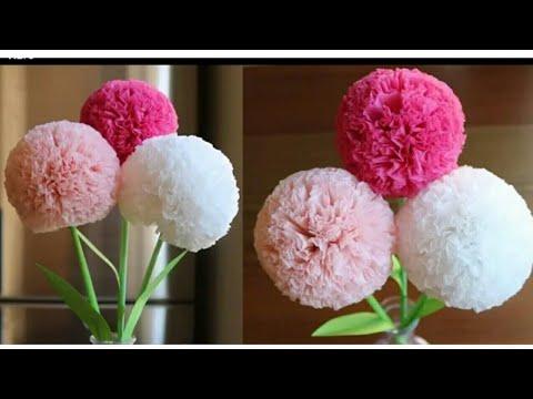How to make Tissue Paper Flower-DIY Paper Craft