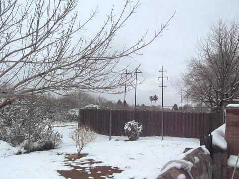 Snow in El Paso, TX January 4, 2013