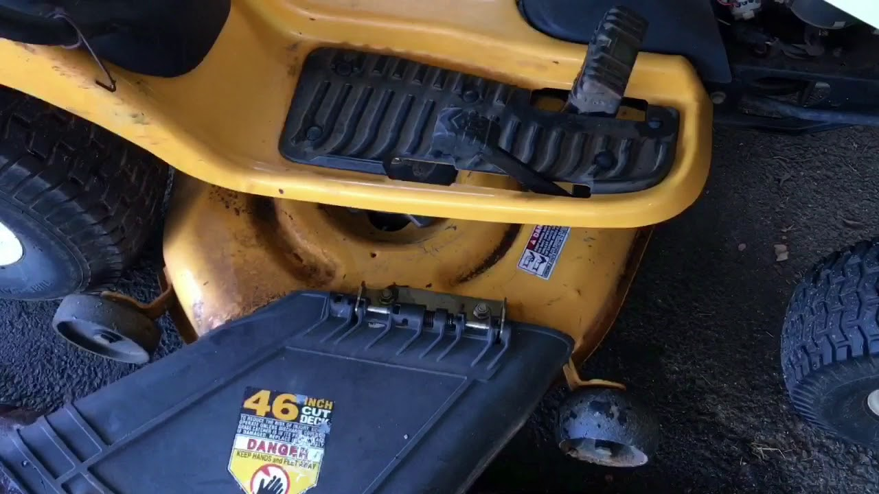 part 1 how to replace the drive belt on a cub cadet ltx 1046 vt [ 1280 x 720 Pixel ]