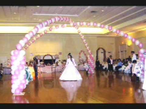 Decoracion de quinceaneras youtube for Arreglos de salon con globos