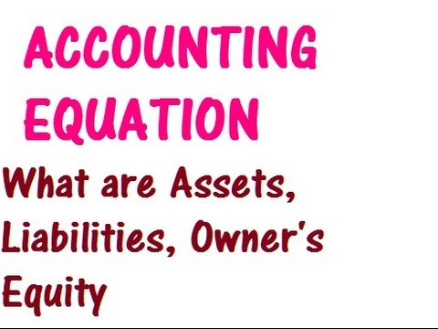 ACCOUNTING EQUATION - What are assets, liabilities, owner's equity