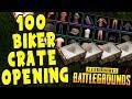 100 PUBG BIKER CRATE OPENING $250 | Playerunknown's Battlegrounds Live Stream