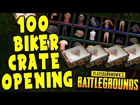 What You'll Get when Opening 100 PUBG Biker Crate worth $250