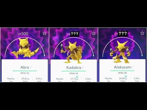 Pokemon Go Abra(500) to Kadabra to Alakazam EPICC!! Evolution(level 32)