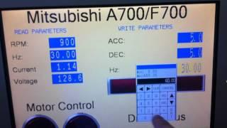 Video: Air Hydro Power Proface HMI controlling Mitsubishi A700 VFD