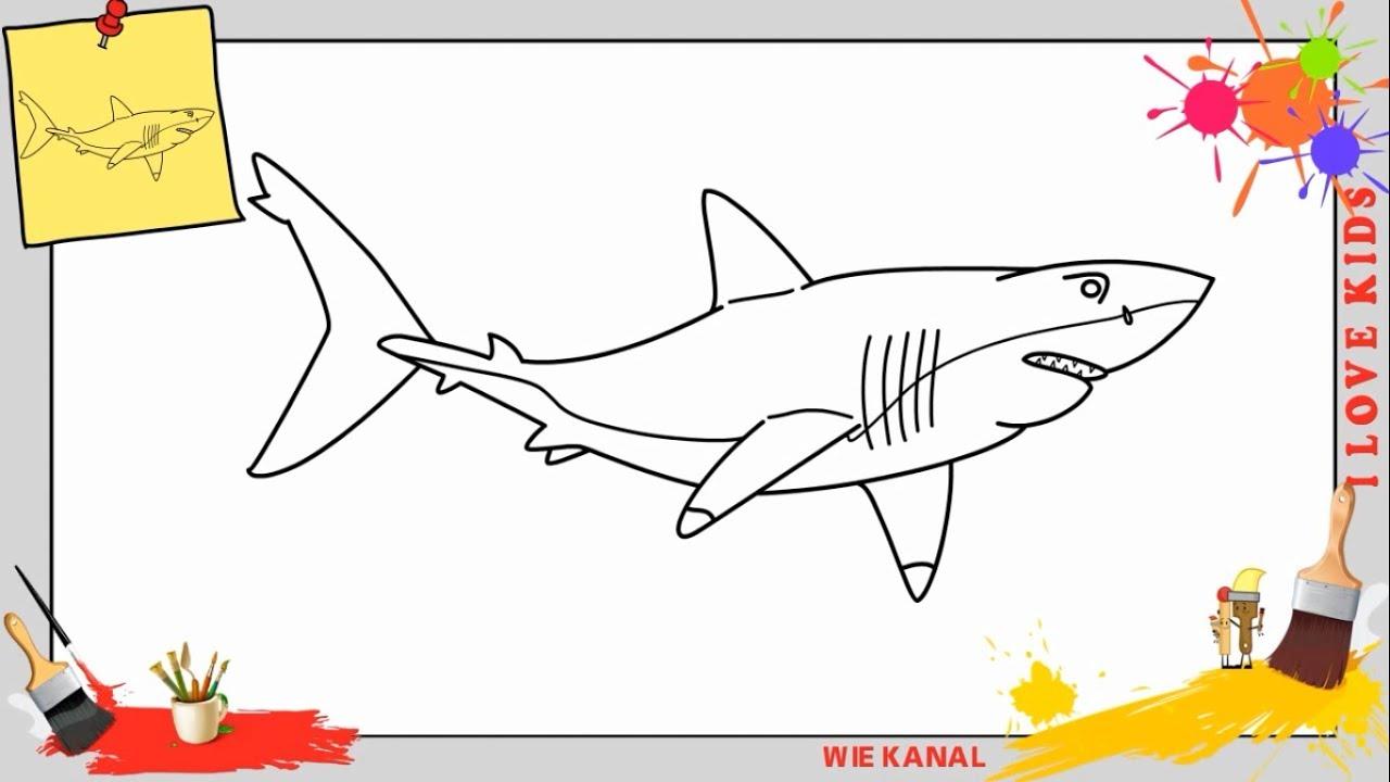 Ausgezeichnet Meine Großen Weißen Hai Malvorlagen Ideen - Beispiel ...