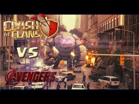 Clash Of Clans  troops vs Avengers. Epic war!