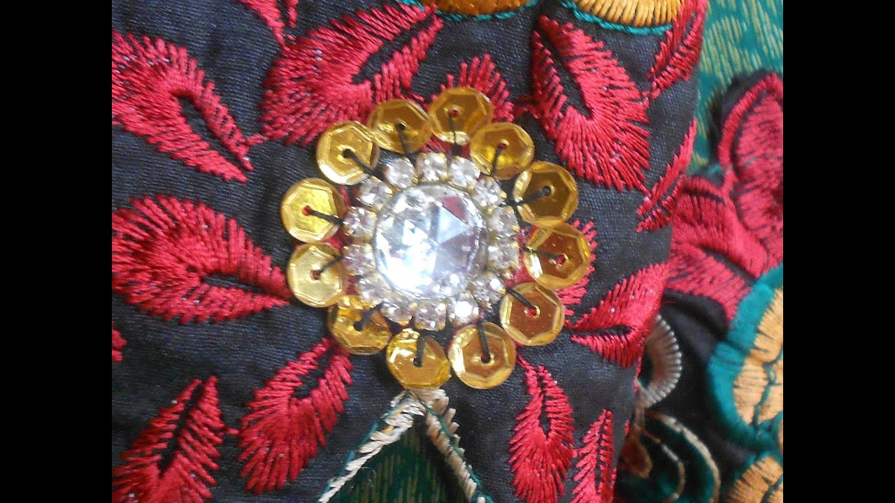 How To Decorate A Salwar With Sequins,cup Chain ,&kundan Stone  Youtube