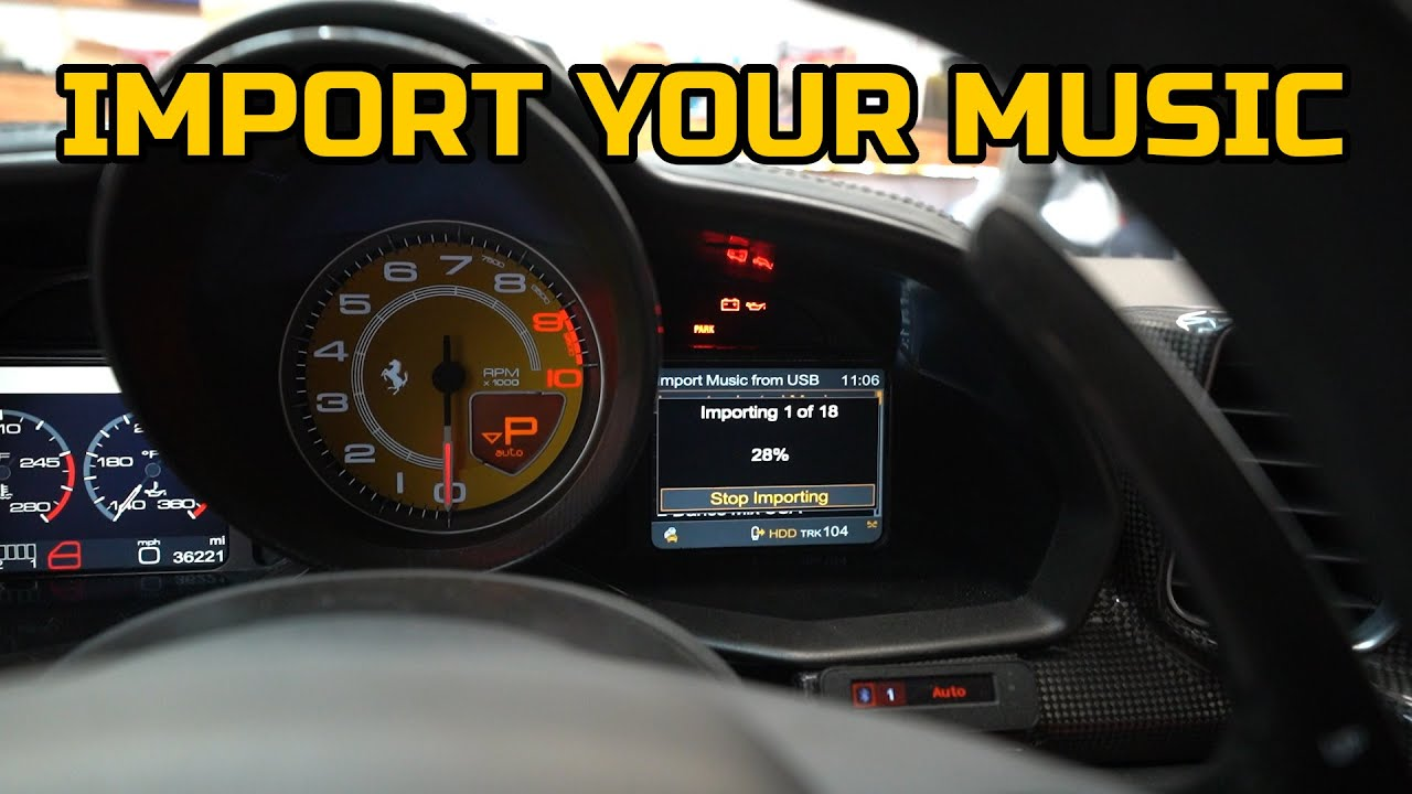 How to IMPORT MUSIC on the Ferrari 458's TERRIBLE factory stereo