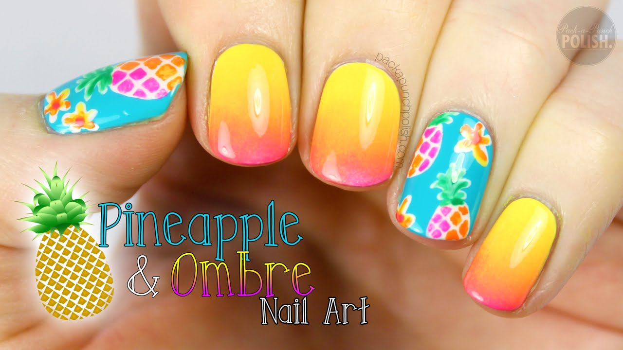 Pineapple ombre nail art tutorial youtube prinsesfo Image collections
