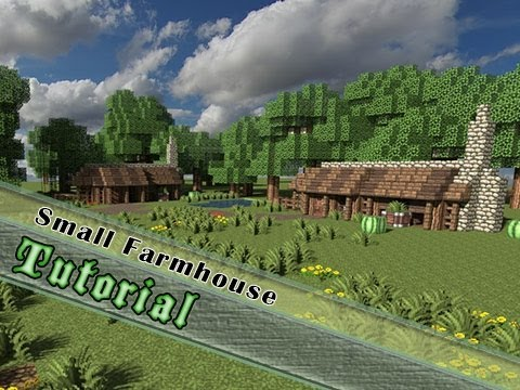 Minecraft Tutorial How To Build A Small Farmhouse Youtube