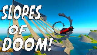 8 SLOPES OF DOOM! - BeamNG Drive Learn to Fly Map Mod (Crashes and Funny Moments)