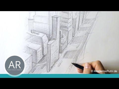 Zeichnen Lernen Tutorials Perspektive Akademie Ruhr 3 Punkt