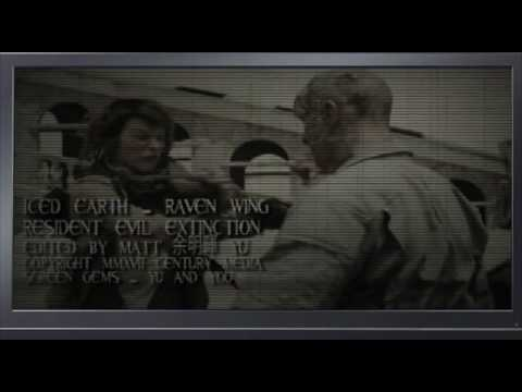 ICED EARTH - Raven Wing - fan made Music Video - RESIDENT EVIL: EXTINCTION