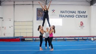 TEACHING SHAWN JOHNSON HOW TO CHEER!