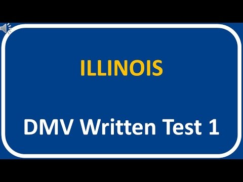 Illinois DMV Written Test 1