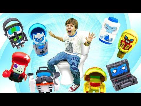 Крутые : наборы от Хасбро (Hasbro)!  трансформеры Ботботс (BOTBOTS). Челлендж!