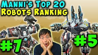 Manni S Top 20 BEST WAR ROBOTS RANKING 2019 Episode 2 WR Gameplay