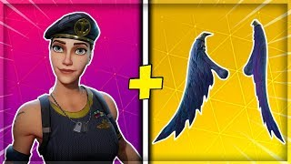 "THE BEST SKINS COMBOS WITH THE ""DARK WINGS""! on FORTNITE Battle Royale"