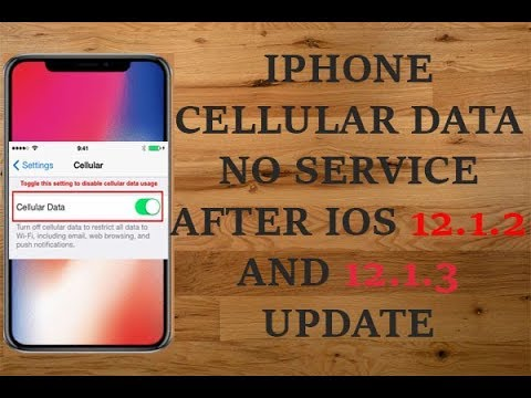 Cellular Data No Service Error on iPhone after iOS 12 1 2 Update