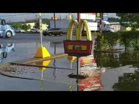 McDonalds is closed! Flooding in Philipsburg, PA. September 12, 2018.