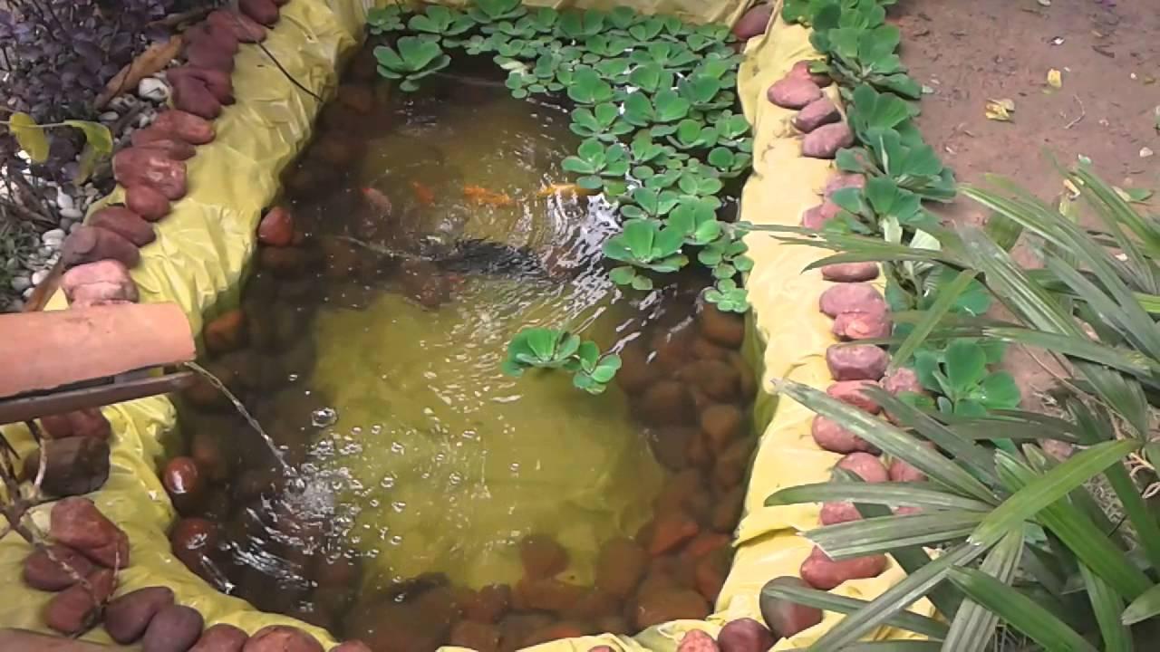 2 mini lago artificial caseiro f cil e barato youtube for Como construir un lago artificial