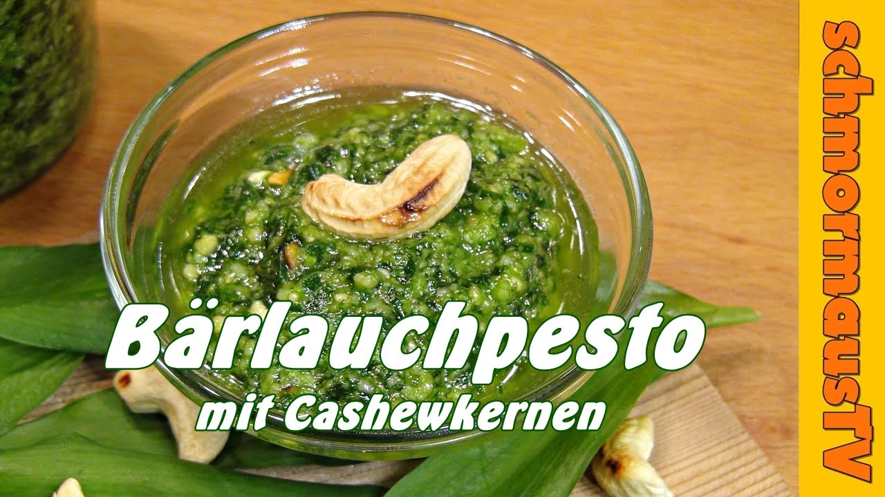 b rlauchpesto mit cashewkernen b rlauchpesto selber machen rezept youtube. Black Bedroom Furniture Sets. Home Design Ideas