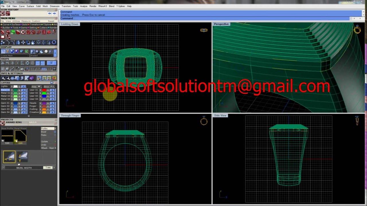 matrix 3d jewelry design software 6.0 free download