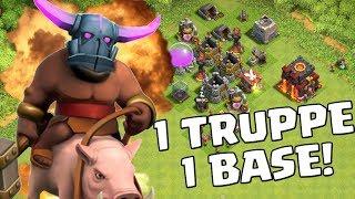 1 TRUPPE GEGEN 1 BASE! || Clash of Clans || Let's Play CoC [Deutsch German]