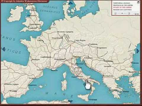 Interactive Map Of Roman Empire Youtube