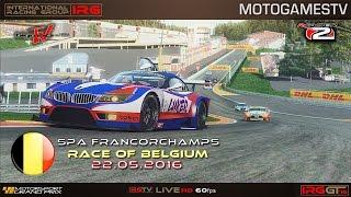IRG World - rFactor 2 - IRG GT 2016 - Belgium Grand Prix (Round 3) - 1080p60fps live stream
