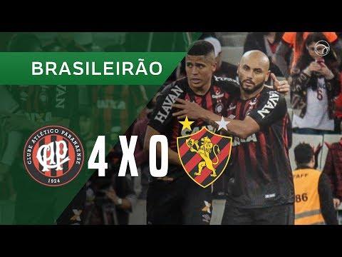 ATLÉTICO-PR 4 X 0 SPORT - GOLS - 14/10 - BRASILEIRÃO 2018