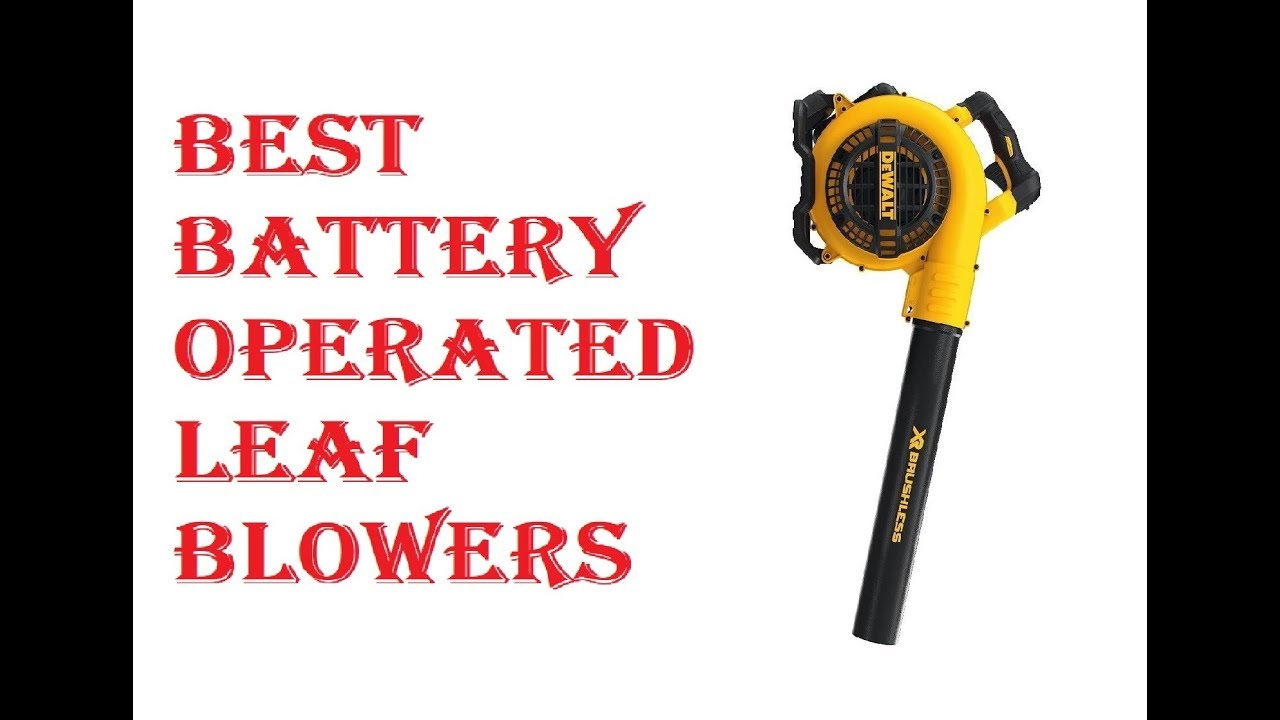Best Battery Blowers 2019 Best Battery Operated Leaf Blowers 2019   YouTube