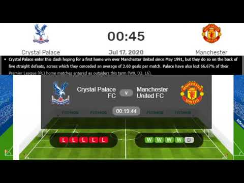 Manchester United Vs Crystal Palace Live Premier League Man Utd Vs Crystal Live Streaming Youtube